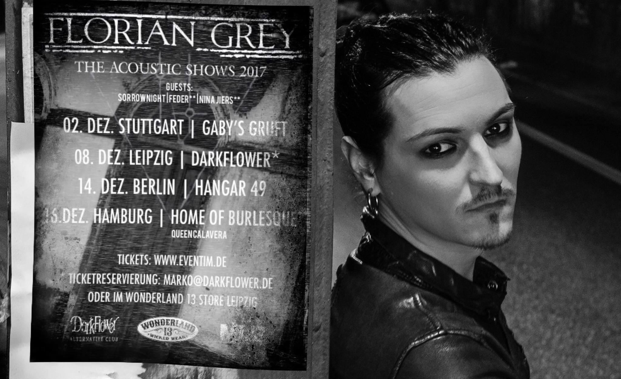 FLORIAN GRAY THE ACOUSTIC SHOWS 2017